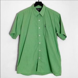 Ralph Lauren Button Down Checkered Shirt Green
